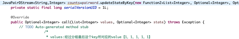 updateStateByKey报错is not applicable for the arguments